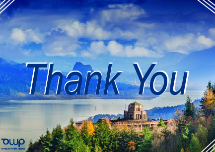 OWP thank you card
